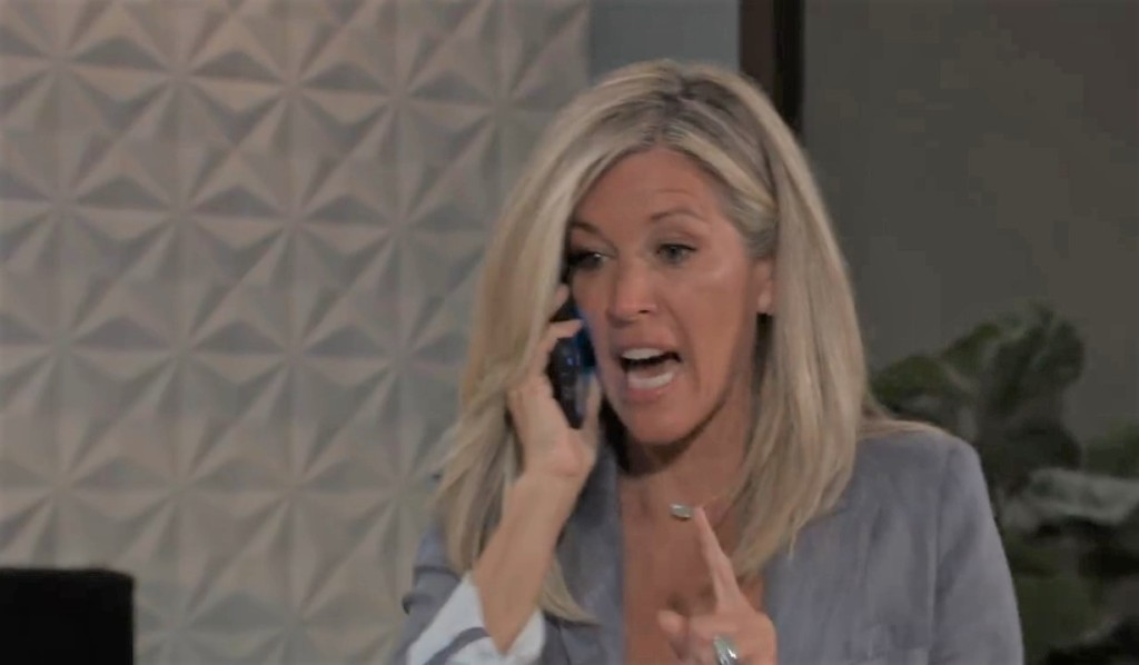 Carly calls Spinelli Metro Court General Hospital