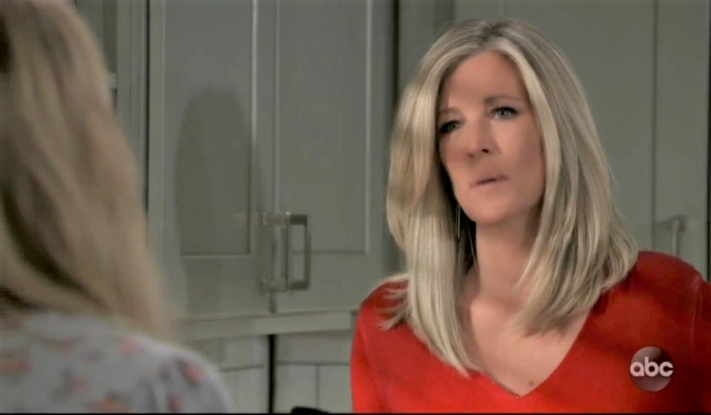 Carly and Joss discuss their problems in kitchen General Hospital