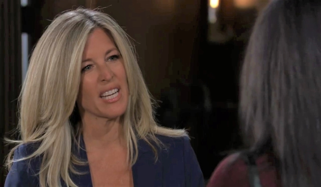 Carly offers Gladys a deal at Corinthos compund General Hospital