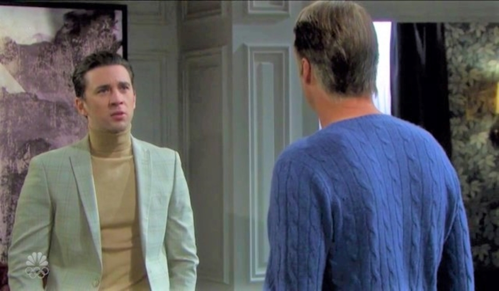 Chad and Jack talk Abby exiting at DiMera mansion Days of Our Lives