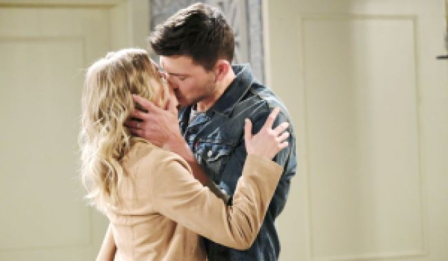 Ben and Claire kiss at Belle's Days of Our Lives