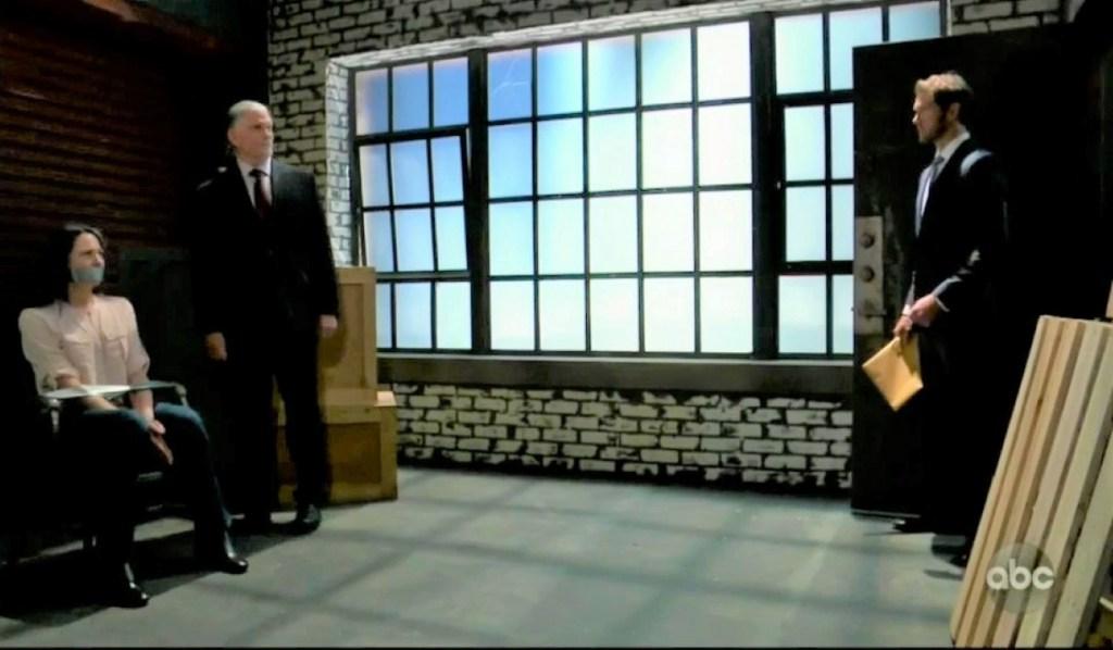 Cyrus shows Brando Gladys gagged in warehouse General Hospital