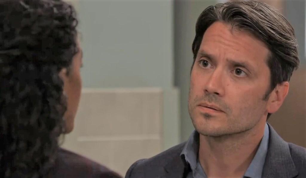 Jordan and Dante talk Cyrus situation at General Hospital