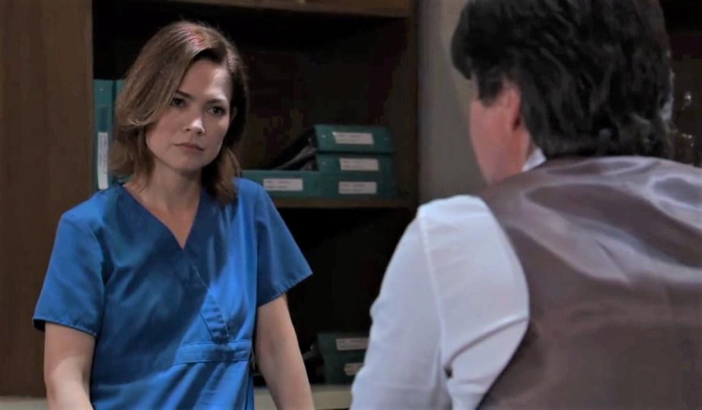 Finn tells Liz his doubts at General Hospital