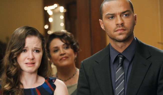 GREY'S ANATOMY, (from left): Sarah Drew, Jesse Williams, 'With You I'm Born Again', (Season 7, ep. 701, aired Sept. 23, 2010), 2005-, photo: Peter 'Hopper' Stone / ©ABC / Courtesy Everett Collection