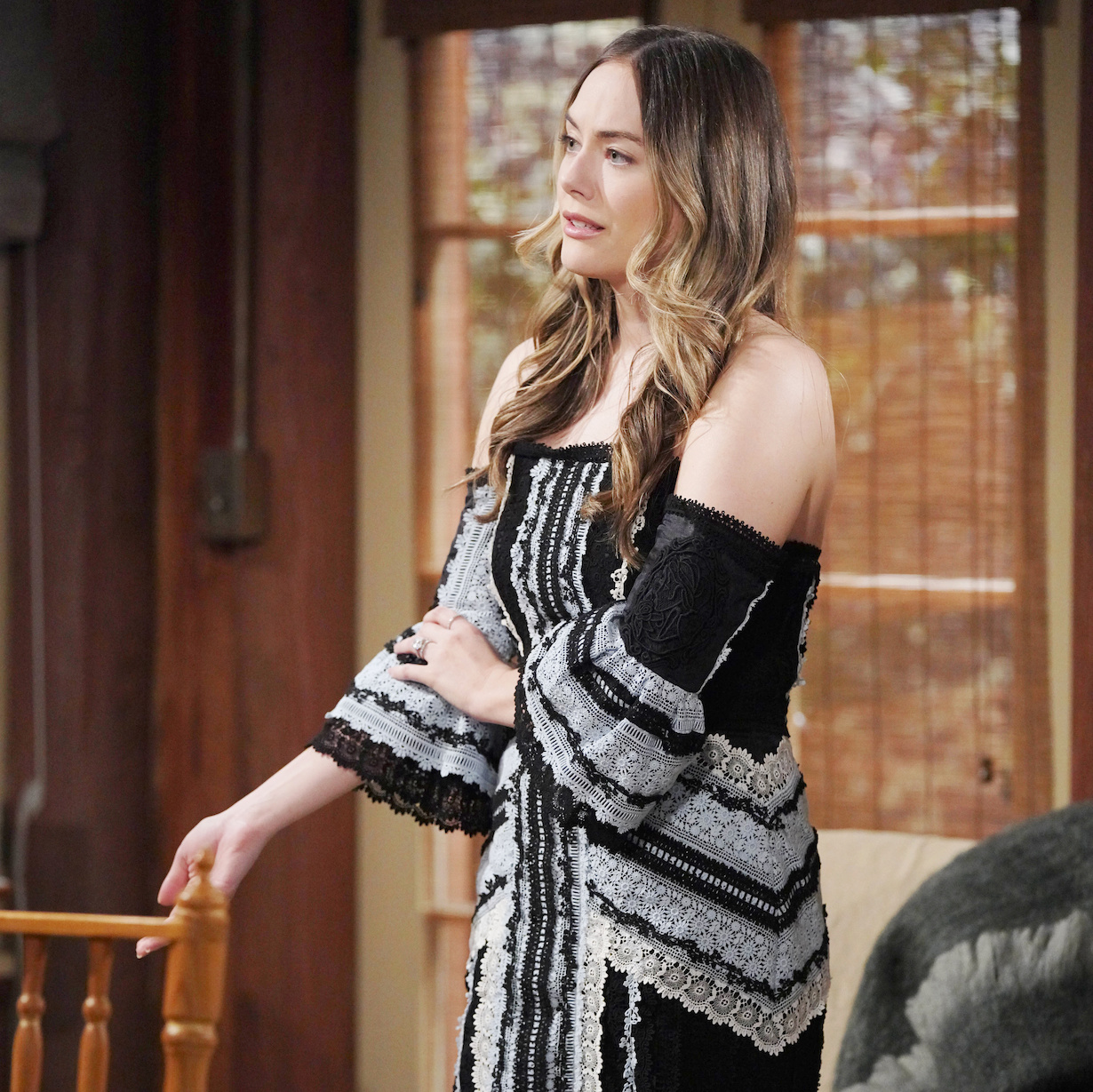 """Annika Noelle """"The Bold and the Beautiful"""" Set CBS Television City Los Angeles, Ca. 03/25/21 © Howard Wise/jpistudios.com 310-657-9661 Episode # 8524 U.S.Airdate 05/26/21"""