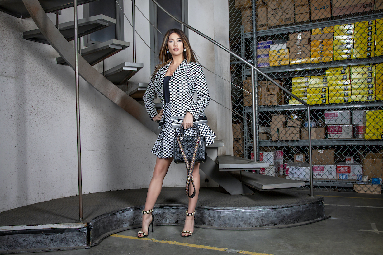 Jacqueline MacInnes Wood of the CBS series THE BOLD AND THE BEAUTIFUL, Weekdays (1:30-2:00 PM, ET; 12:30-1:00 PM, PT) on the CBS Television Network. Photo: Gilles Toucas/CBS 2020 CBS Broadcasting, Inc. All Rights Reserved.