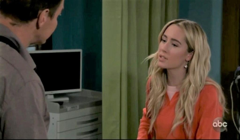 Joss and Jax talk injuries at clinic General Hospital