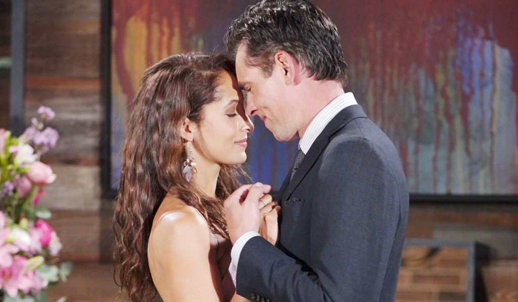 Lily, Billy romantic evening Y&R