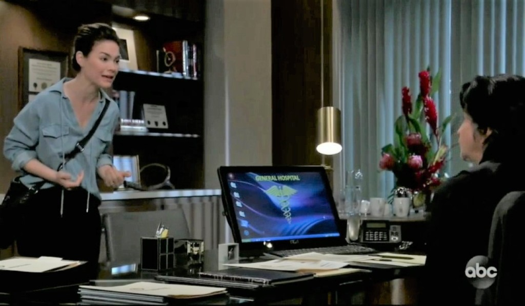 Liz questions Finn about Chase at General Hospital