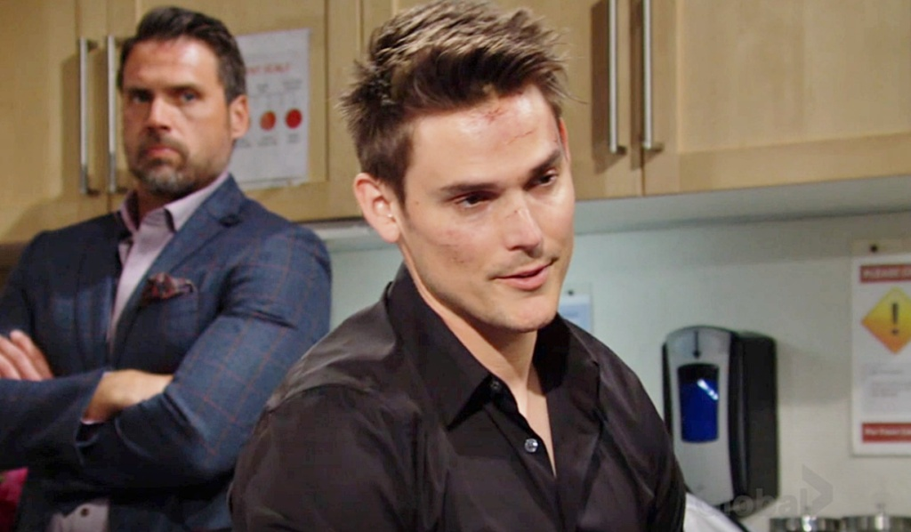 Nick watches Adam talk to Faith Y&R