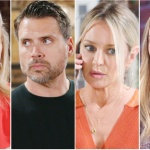 Nikki, Nick, Sharon, Faith collage Y&R