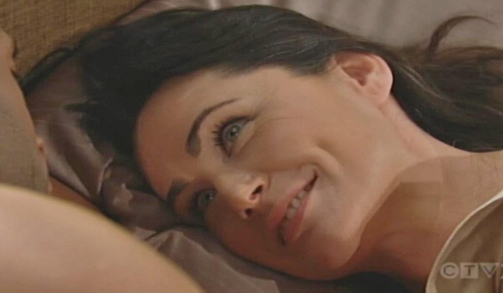 Quinn gaze at Carter bed B&B