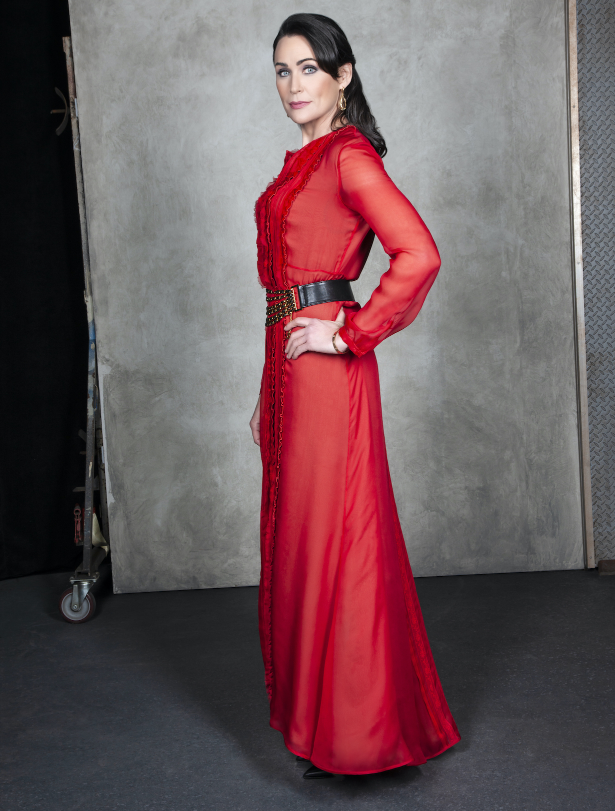 Rena Sofer of the CBS series THE BOLD AND THE BEAUTIFUL, Weekdays (1:30-2:00 PM, ET; 12:30-1:00 PM, PT) on the CBS Television Network. Photo: Gilles Toucas/CBS 2020 CBS Broadcasting, Inc. All Rights Reserved.