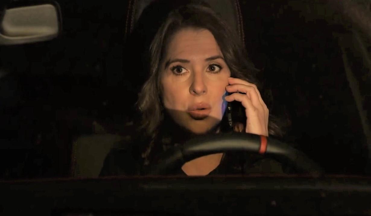 Sam talks to Spienlli on phone in car General Hospital