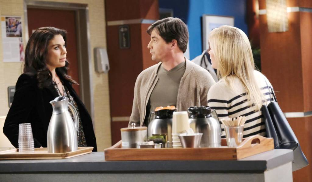 Sami offers to book a holiday for Chloe and Lucas at hospital Days of our Lives