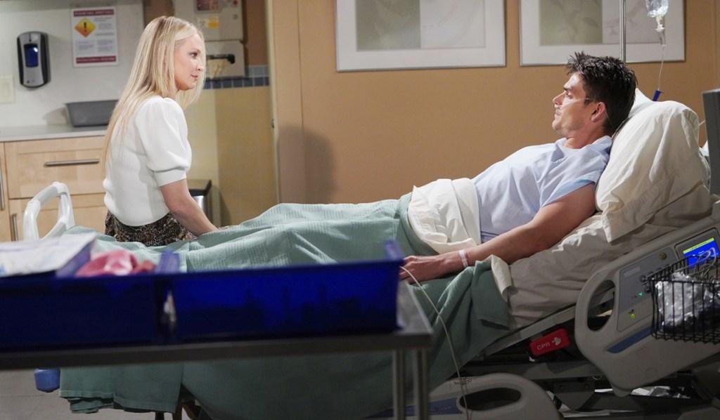 Sharon, Adam hospital room Y&R