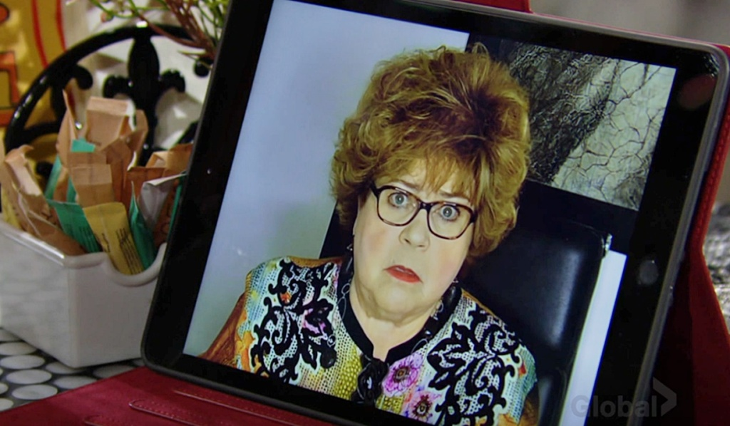 Shirley Spectra video call Y&R