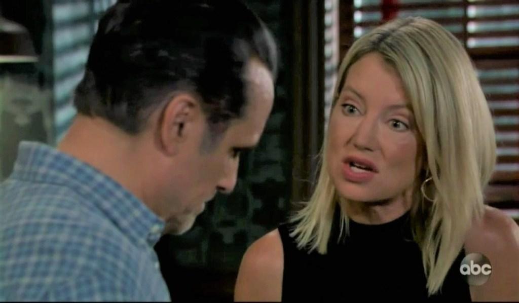 Nina tells Sonny her plan at Tan-O General Hospital