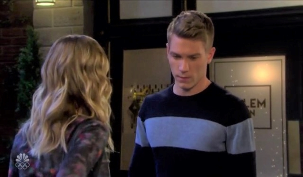 Tripp tells Claire he saw Allie kiss Chanel in square Days of our Lives