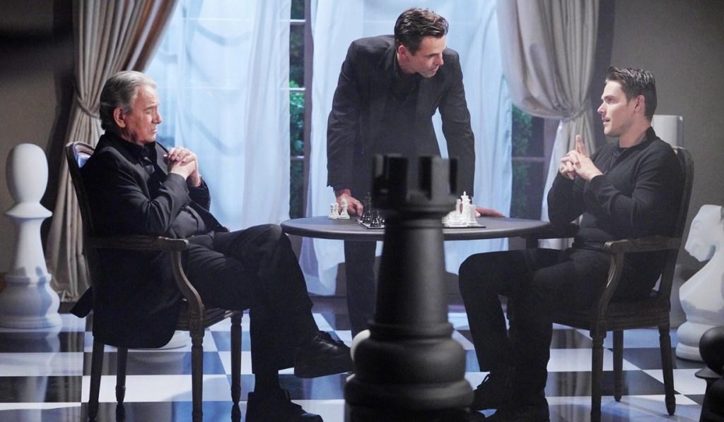 Victor, Billy, Adam chess Y&R