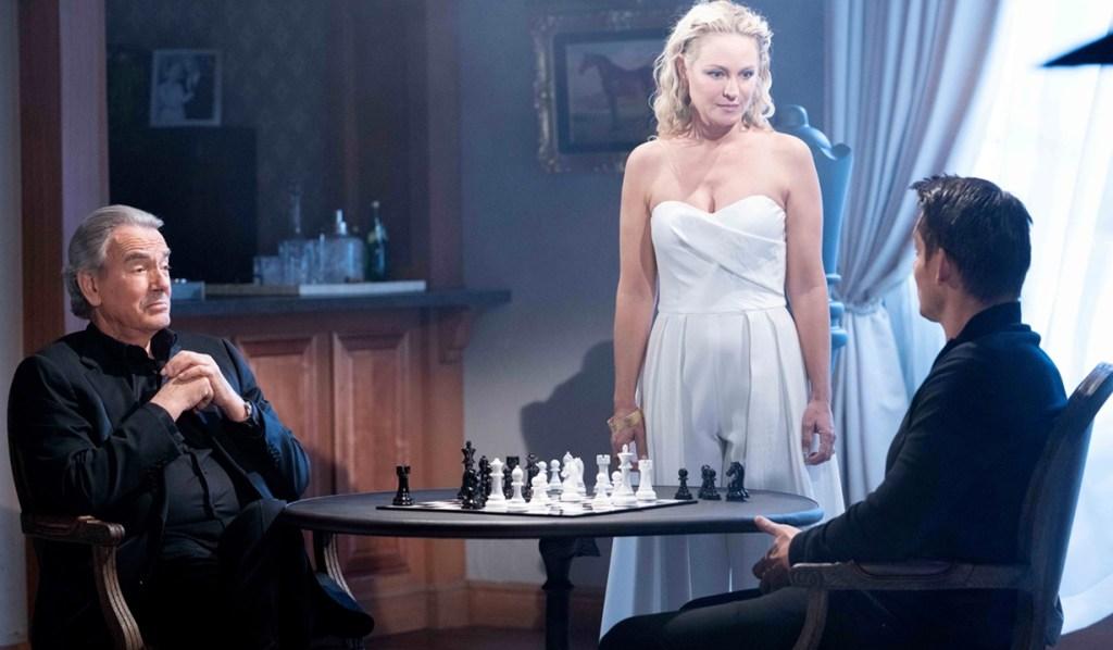 Victor, Sharon, Adam chess Y&R