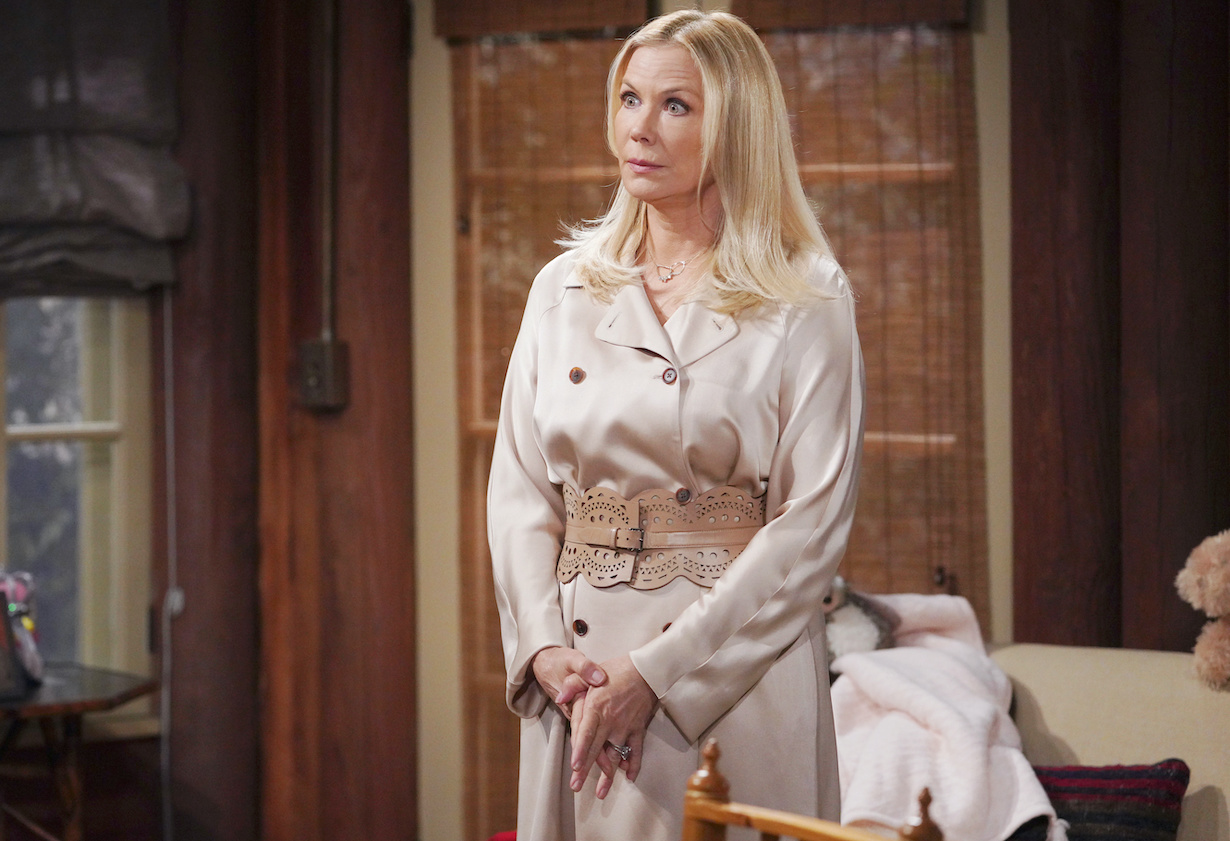 """Katherine Kelly Lang """"The Bold and the Beautiful"""" Set CBS Television City Los Angeles, Ca. 02/26/21 © Howard Wise/jpistudios.com 310-657-9661 Episode # 8501 U.S.Airdate 04/22/21"""