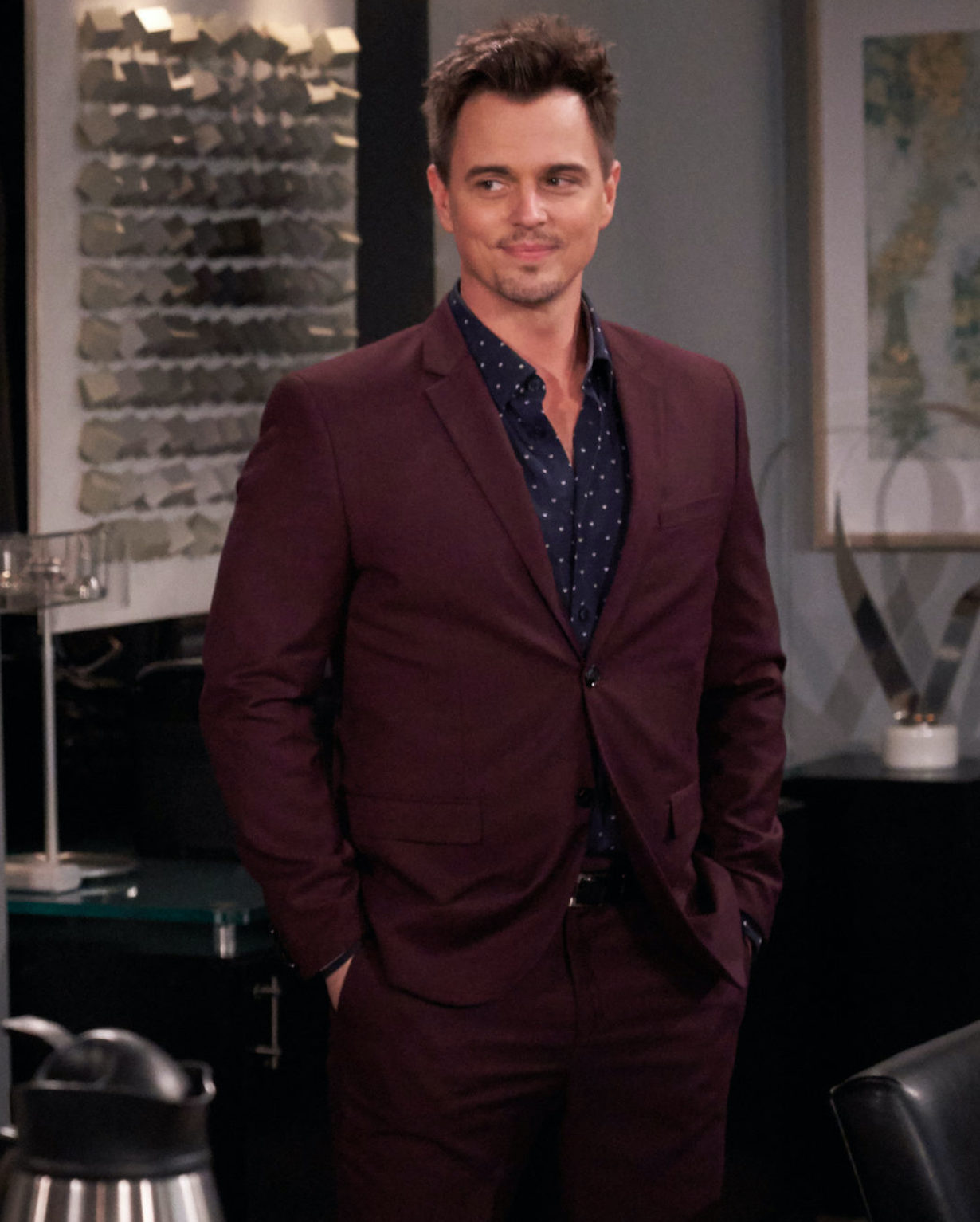 Darin Brooks THE BOLD AND THE BEAUTIFUL crossover episodes 8440 and 8441 airing on January 14 and January 18, 2021. ©Adam Torgerson/CBS Broadcasting, Inc. All Rights Reserved