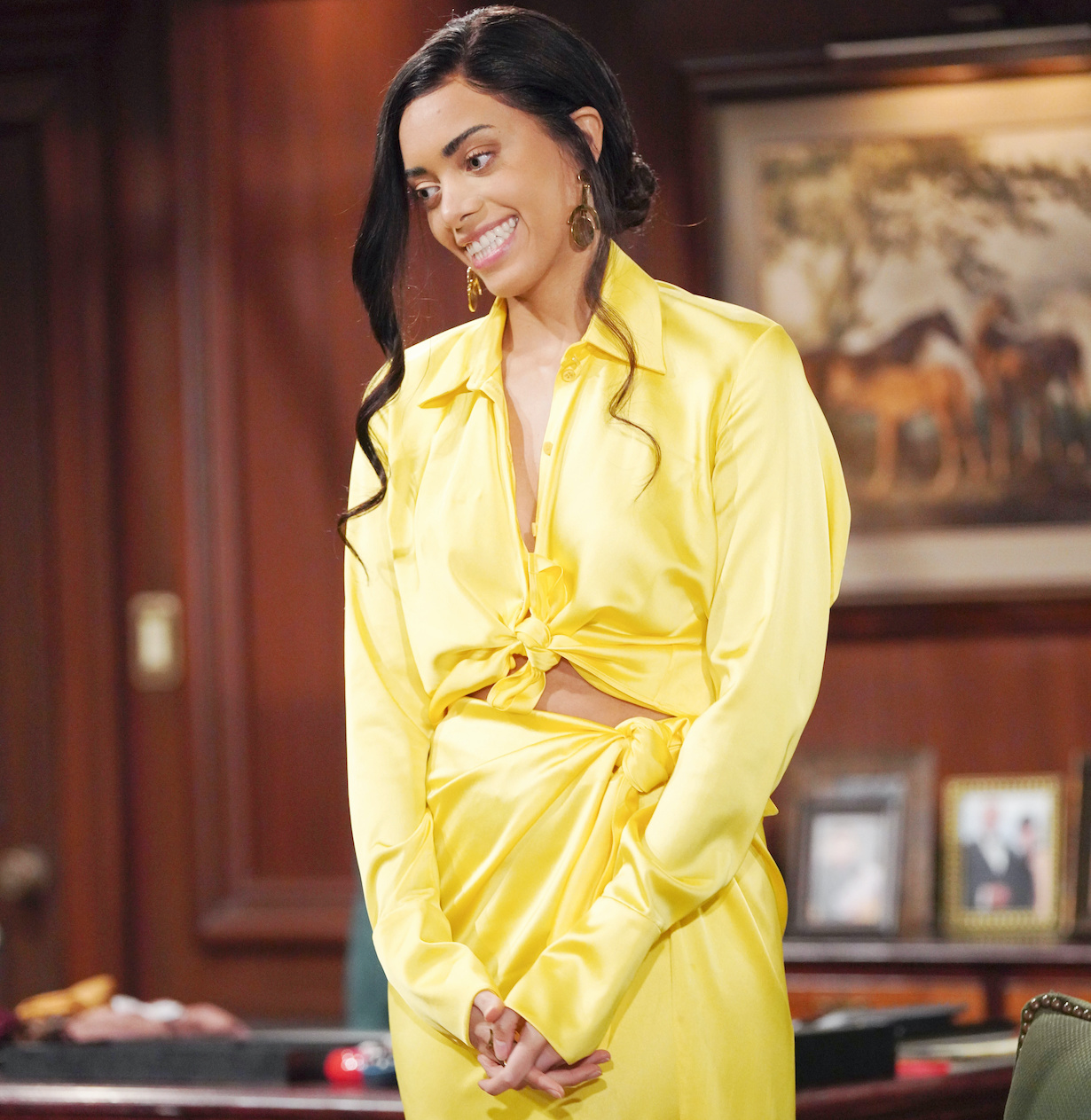 "Kiara Barnes ""The Bold and the Beautiful"" Set CBS Television City Los Angeles, Ca. 02/26/21 © Howard Wise/jpistudios.com 310-657-9661 Episode # 8502 U.S.Airdate 04/23/21"