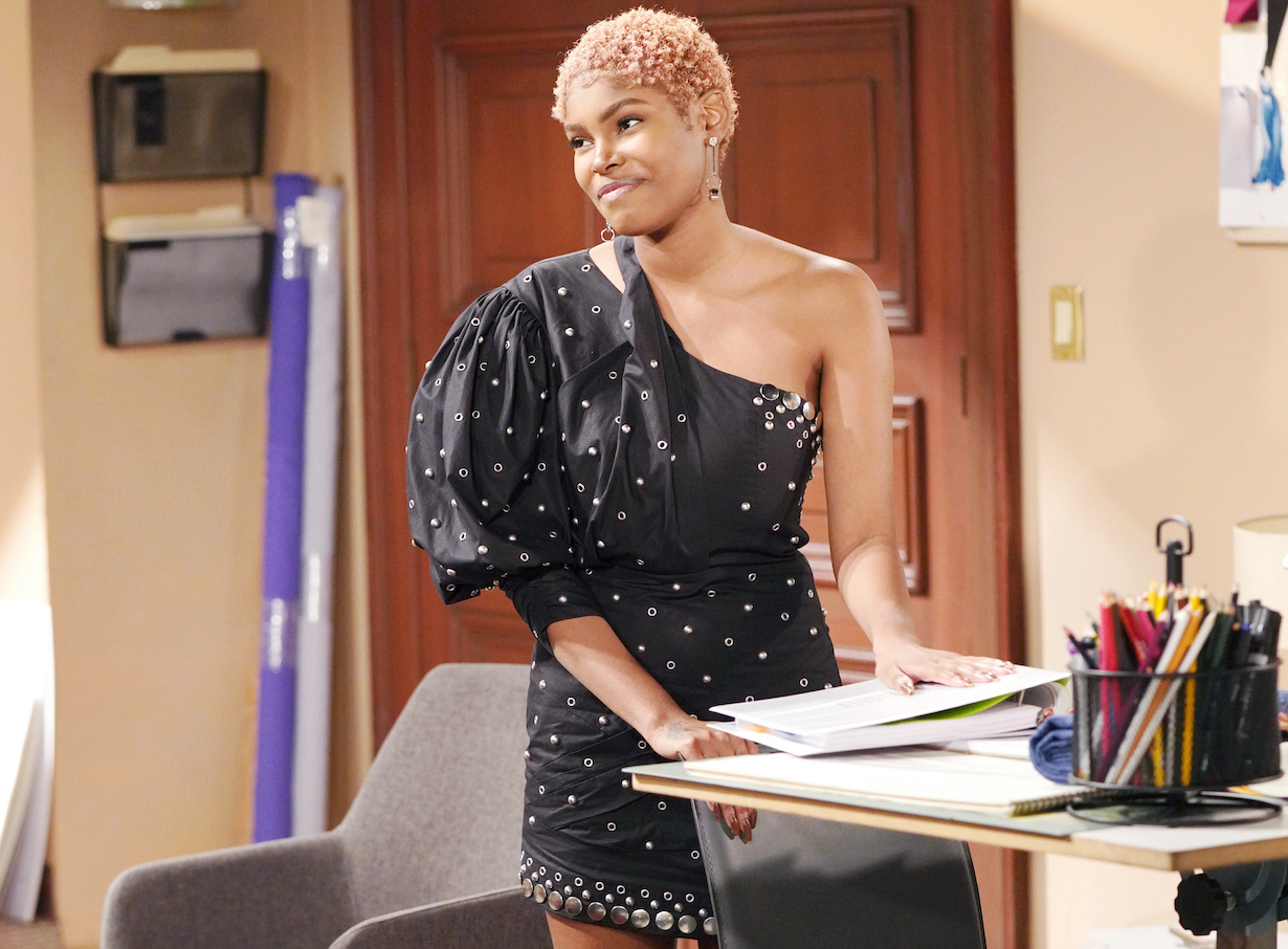 """Diamond White """"The Bold and the Beautiful"""" Set CBS Television City Los Angeles, Ca. 02/05/21 © Howard Wise/jpistudios.com 310-657-9661 Episode # 8485 U.S.Airdate 03/31/21"""