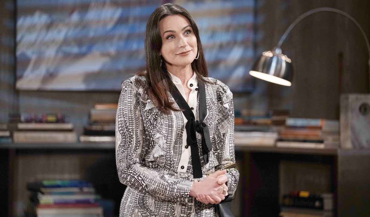 """Rena Sofer """"The Bold and the Beautiful"""" Set CBS Television City Los Angeles, Ca. 02/25/21 © Howard Wise/jpistudios.com 310-657-9661 Episode # 8499 U.S.Airdate 04/20/21"""