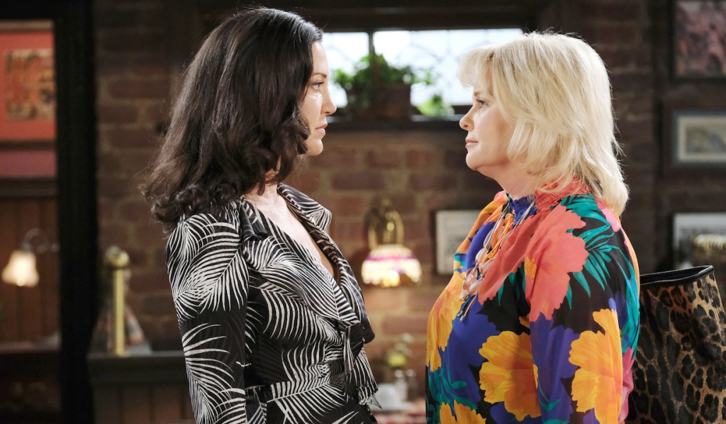 Bonnie faces Jan at Brady's Pub on Days of Our Lives