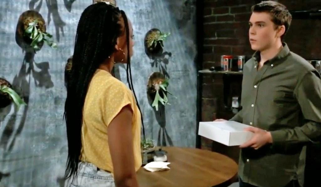 Trina and Cam discuss the gun incident GH