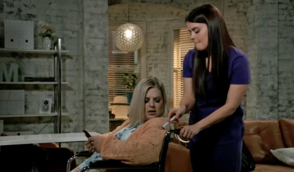 Chloe injects Maxie on GH