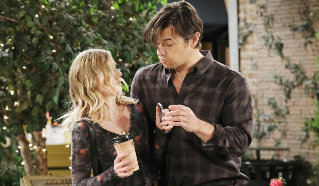 Claire bumps into a drunk Xander on Days of Our Lives