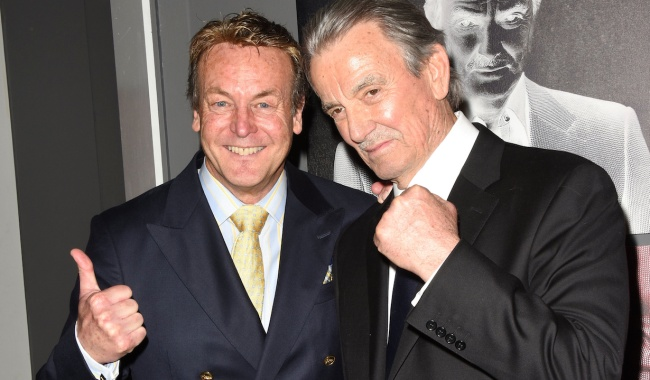 Eric Braeden, Doug Davidson at the 40th Anniversary Celebration of Eric Braeden Starring on The Young and the Restless on the set at CBS Television City on February 7, 2020 © Jill Johnson/jpistudios.com 310-657-9661