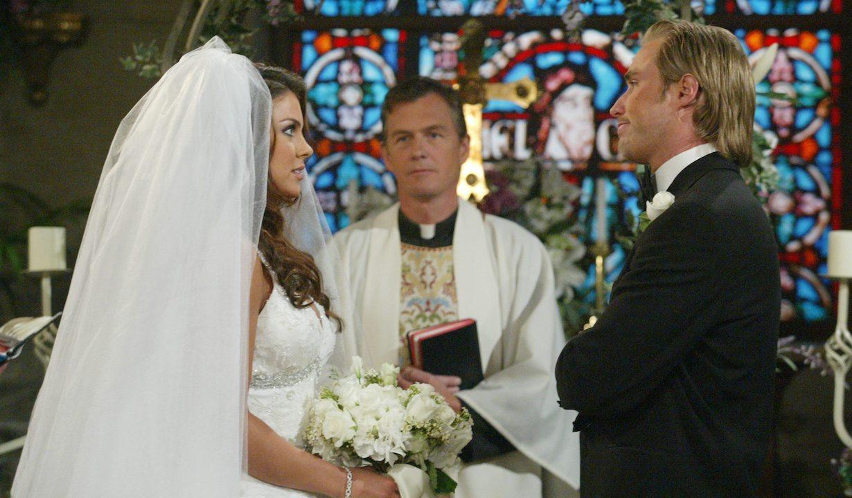 "brady chloe wedding Kyle Lowder, Nadia Bjorlin""Days of our Lives"" Set Chloe/Brady EpisodicNBC StudiosBurbank8/10/05©Paul Skipper/jpistudios.com310-657-9661Episode #10141"