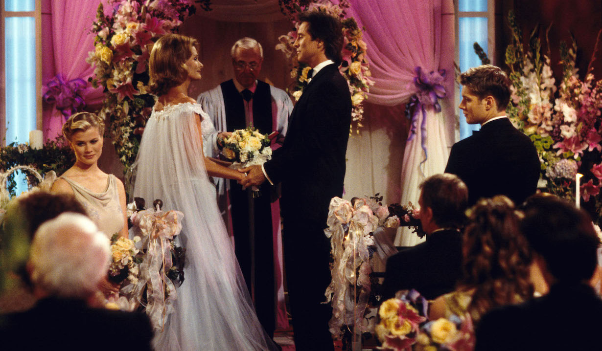 Deidre Hall and Drake Hogestyn Days of our Lives set NBC Studios 6/10/99 © John Paschal/JPI 310-657-9661 Episode #8580
