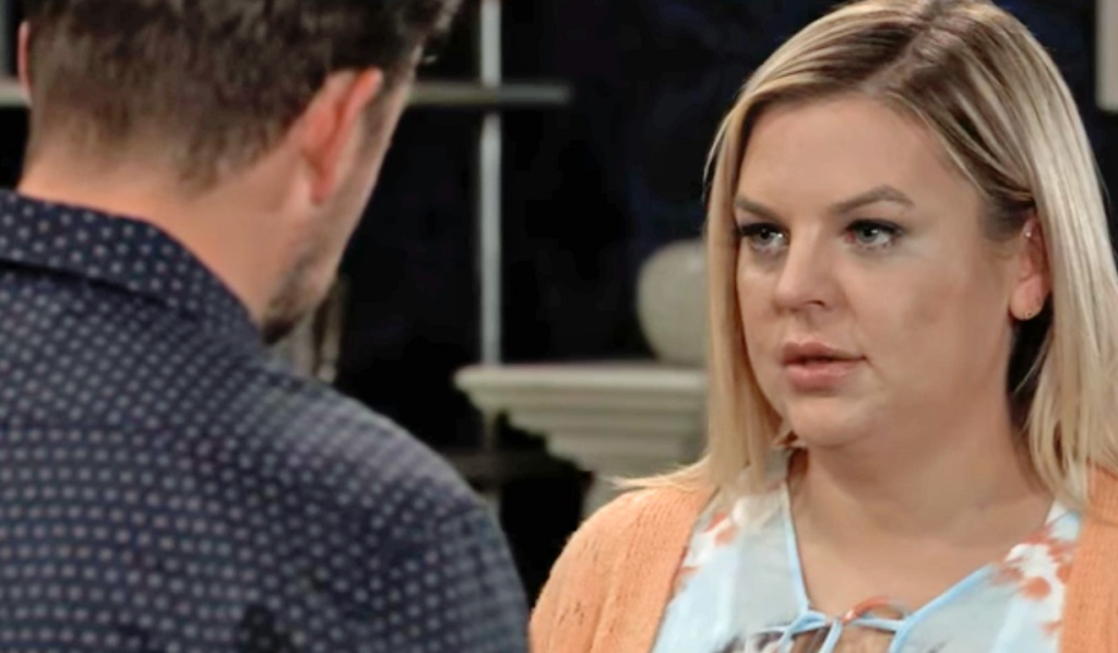 Maxie is about to confess to Spinelli GH