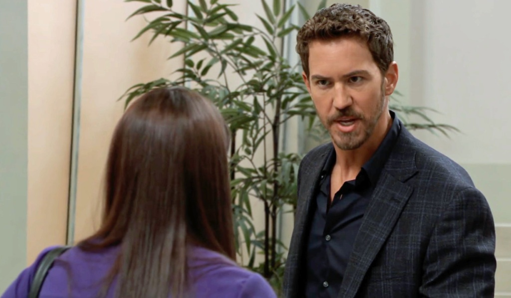 Peter threatens Chloe GH