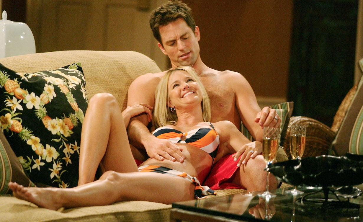"""Sharon Case, Michael Muhney """"The Young and the Restless"""" adam sharon am"""