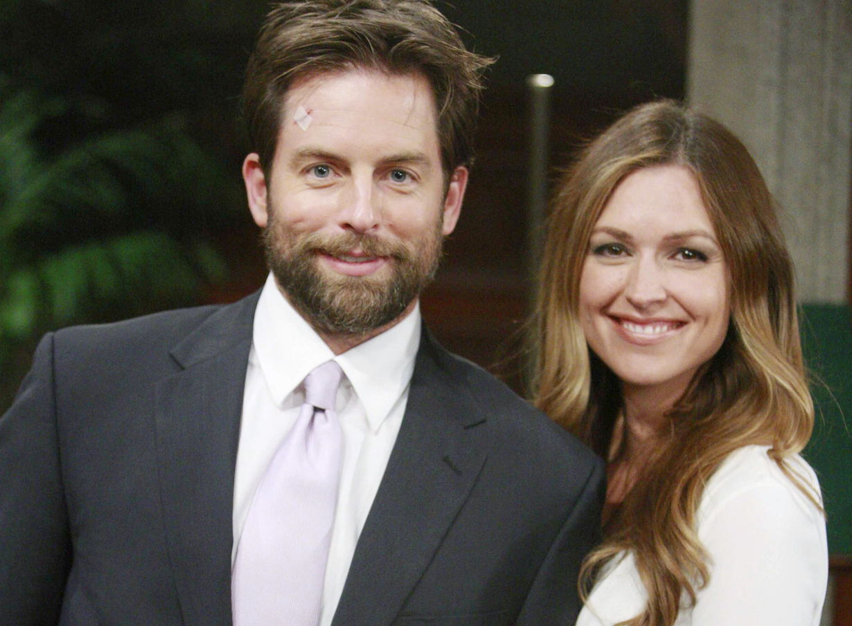 """Michael Muhney, Laura Stone """"The Young and the Restless"""" adam skye ss"""
