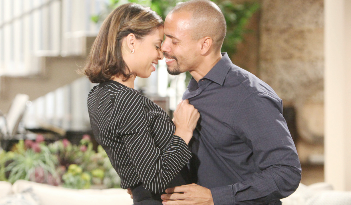 """Brytini Sarpy, Bryton James""""The Young and the Restless"""" Set CBS television CityLos Angeles07/11/19© Howard Wise/jpistudios.com310-657-9661Episode # 11750U.S. Airdate 08/14/19"""