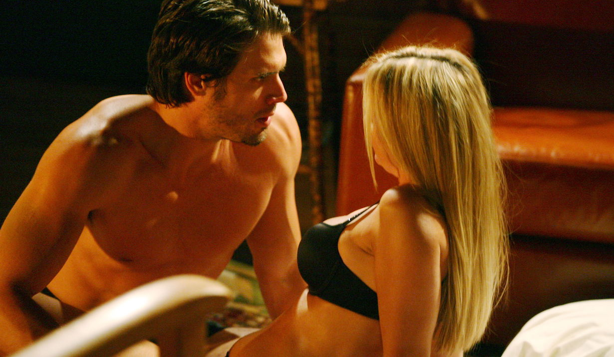 """Joshua Morrow, Sharon Case """"The Young and the Restless"""" nick sharon fireplace am"""