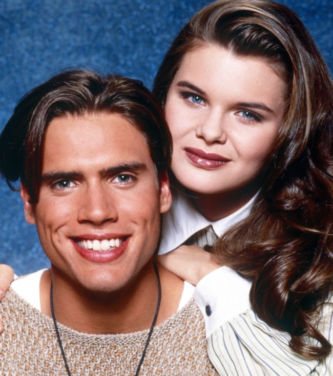 THE YOUNG AND THE RESTLESS, from left: Josh Morrow, Heather Tom, 1990s, 1973-, ph: Monty Brinton /© CBS /Courtesy Everett Collection