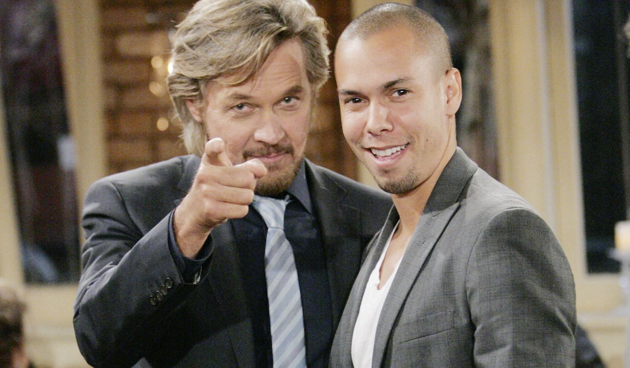 """Stephen Nichols, Bryton James """"The Young and the Restless"""" yr tucker devon ss"""