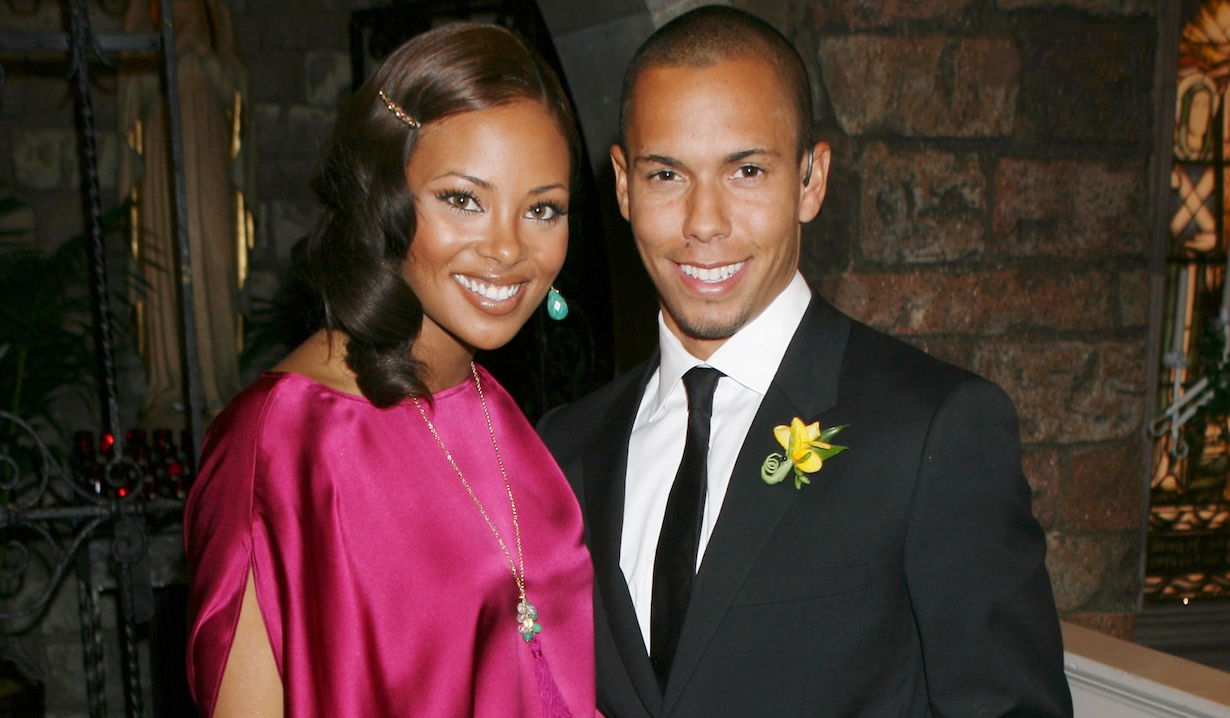 """""""The Young and the Restless"""" Set Eva Marcille, Bryton McClure tyra devon am"""