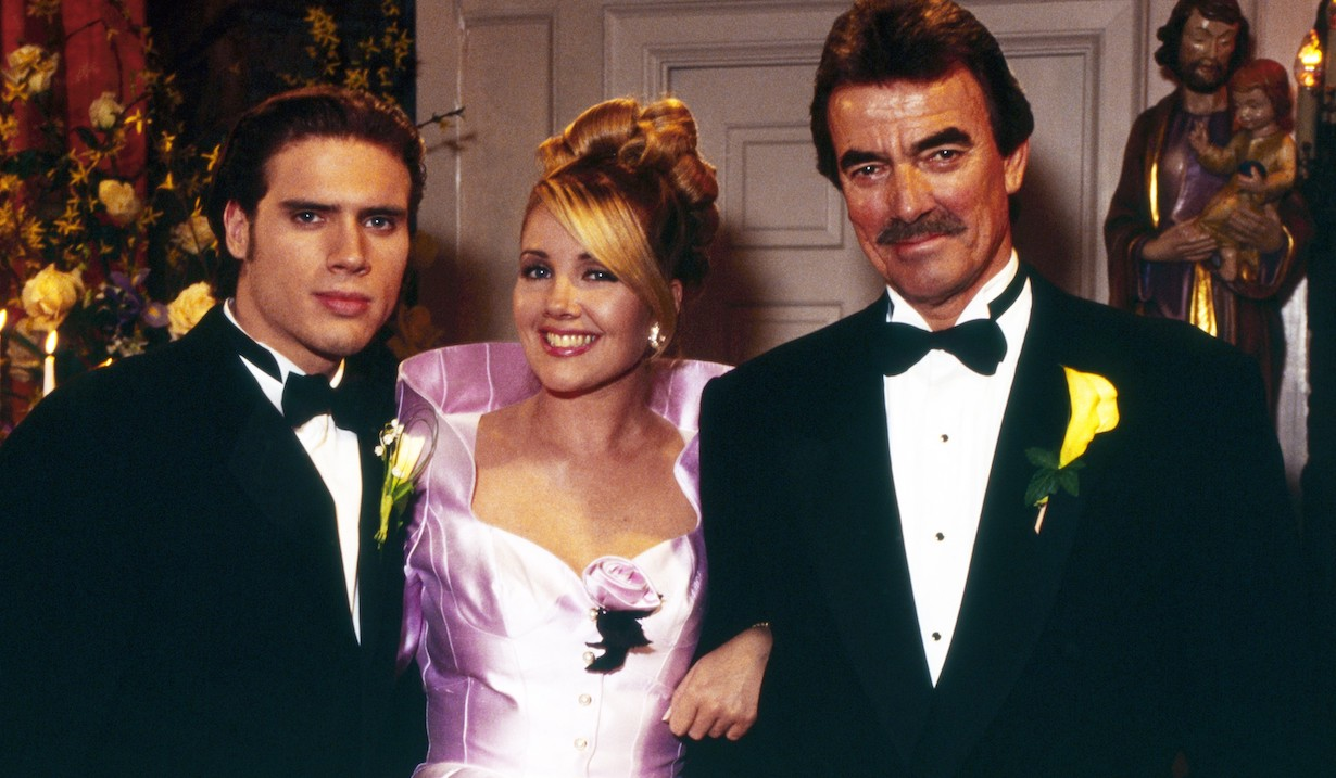 THE YOUNG AND THE RESTLESS, from left: Joshua Morrow, Melody Thomas Scott, Eric Braeden, 1990s, 1973-, ph: Cliff Lipson /© CBS /Courtesy Everett Collection
