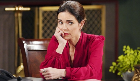 """Amelia Heinle victoria ponders """"The Young and the Restless"""" Set CBS television CityLos Angeles02/12/21© Howard Wise/jpistudios.com310-657-9661Episode # 12070U.S. Airdate 03/18/21"""