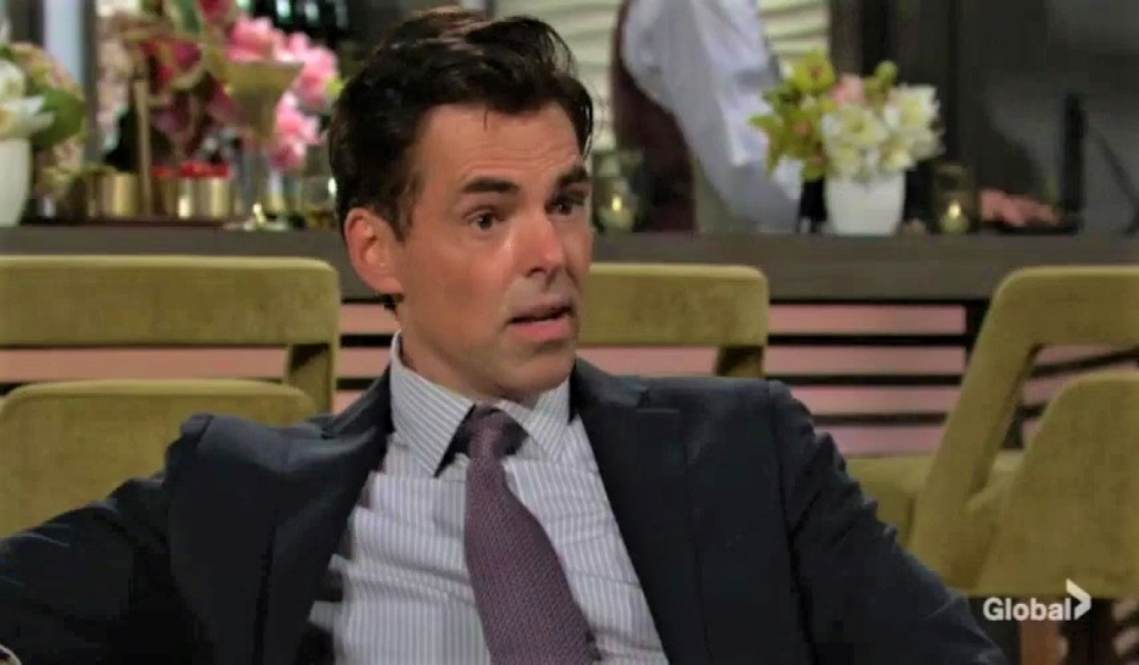 Billy and Victoria argue about Ashland at Grand Phoenix Y&R